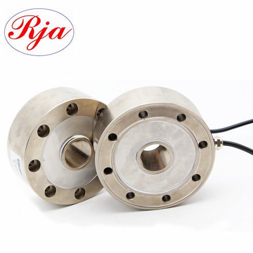 30 Ton 50ton Analog Output Spoke Type Load Cell , Industrial weighing donut compression load cell